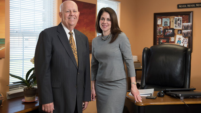 Melissa Anderson, President & CEO and Richard Anderson, COO.