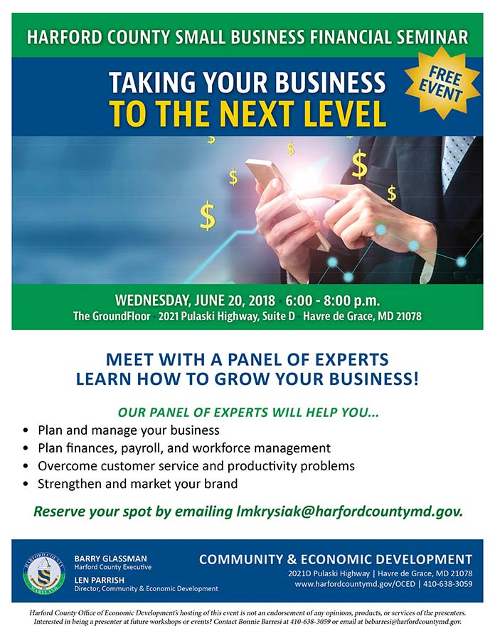 harford county small business financial seminar taking your